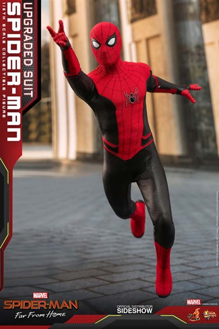 Spider Man Upgraded Suit Spider Man Far From Home Hot Toys 1 6 Scale Figure Timewalker Toys