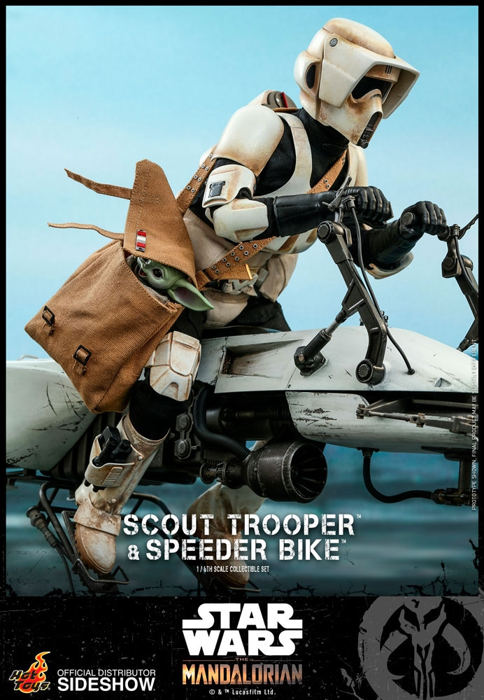 Scout Trooper with Speederbike - Star Wars: The Mandalorian - Hot Toys 1/6 Scale Figure