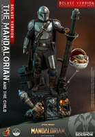 The Mandalorian and The Child Deluxe - Star Wars - Hot Toys 1/4 Scale Collectible Set
