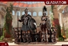 Empire Gladiator Set 1 - Imperial Female Warrior in Black and Empire Gladiator - HY Toys 1/6 Scale Figure
