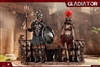 Empire Gladiator Set 2 - Imperial Female Warrior in Red and Empire Gladiator - HY Toys 1/6 Scale Figure