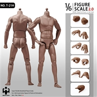 2.0 Super Sportsman's Body - African American - HY Toys 1/6 Scale Body