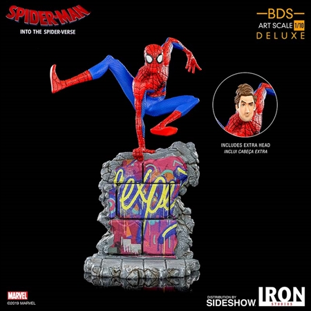 Spider-Man (Peter B. Parker) - Spider-Man: Into The SpiderVerse - Battle Diorama Series - Iron Studios Art Scale 1/10 Statue