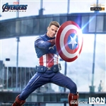 Captain America 2023 Statue - Avengers: Endgame - Battle Diorama Series Art Statue - Iron Studios 1/10 Scale