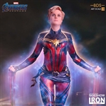 Captain Marvel Statue - Avengers: Endgame - Battle Diorama Series Art Statue - Iron Studios 1/10 Scale