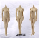 Female Seamless Body - Pale/Large Bust - Jiaou 1/6 Scale