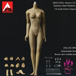 Female Body 3.0 - Metal Core, Detachable Feet - Brown Skin - Jiaou Doll 1/6 Scale Figure