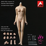 Female Body 3.0 - Metal Core, Detachable Feet - Natural Skin - Jiaou Doll 1/6 Scale Figure
