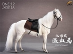 Horse with Saddle - White - JxK Studios 1/12 Scale Accessory