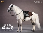 Horse with Saddle - Gray - JxK Studios 1/12 Scale Accessory