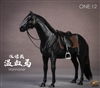 Horse with Saddle - Black - JxK Studios 1/12 Scale Accessory