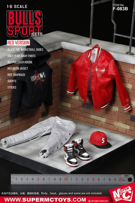 """1//6  SUPERMCTOYS F-083B Bull Sport Clothes Accessories For 12/"""" Male Figure Dolls"""
