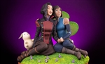 Korra and Asami in the Spirit World - Mondo Statue