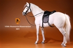 Hanoverian Horse Set with Tack - White Version - Mr. Z 1/6 Scale Accessory