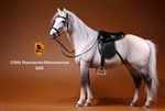 Hanoverian Horse Set with Tack - Grey/White Version - Mr. Z 1/6 Scale Accessory