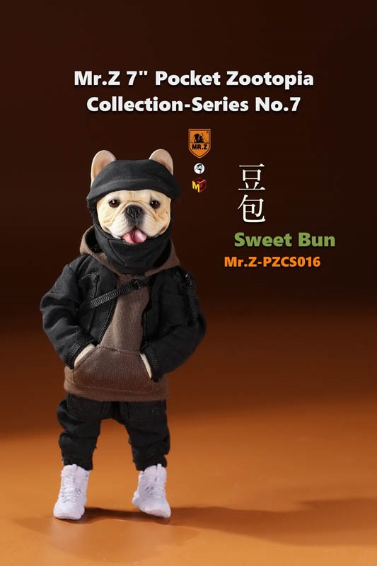 Sweet Bun - French Bulldog - Pocket Zootopia Series 7 - Mr Z Figure