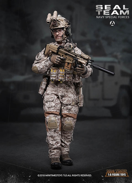 SEAL Team Navy Special Forces - Mini Times 1/6 Scale Figure
