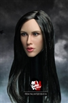 Female Head Sculpt - Black Hair Version - Mr. Toys 1/6 Scale Accessory