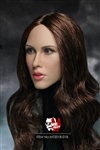 Female Head Sculpt - Brown Hair Version - Mr. Toys 1/6 Scale Accessory
