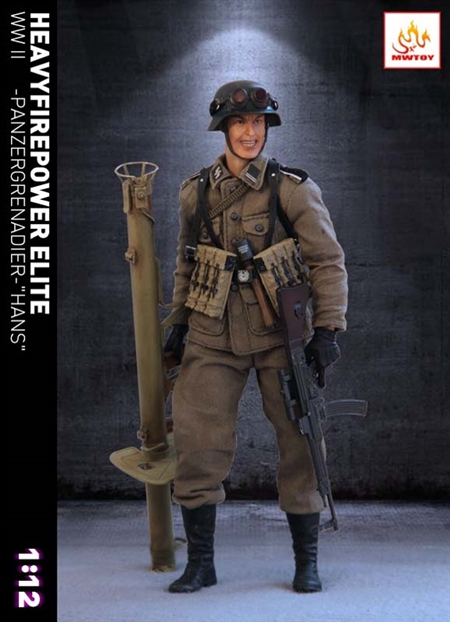Hans - WWII German Panzergrenadier - MW Toys - 1/12 Scale Figure