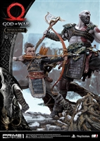 Kratos & Atreus Ivaldi's Deadly Mist Armor Set - God of War - Prime 1 Studio Statue