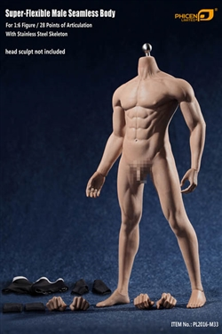 Seamless Male Body without Head - 1/6 Scale Body