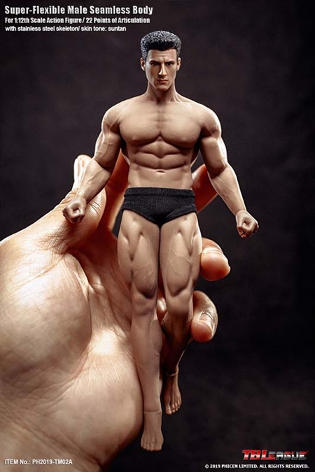 Super-flexible Male Seamless Body - Version 02A - 1/12 Scale Figure - TB League