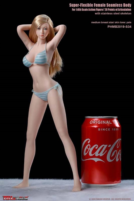 Girl Super-Flexible Seamless Body with Head Sculpt - Pale - TB League 1/6 Scale