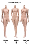 Super Flexible Female Body Plastic Joints - Pop Toys XING Series 1/6 Scale Body