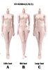 Super Flexible Female Body Plastic Joints - Pale Version - Pop Toys XING Series 1/6 Scale Body