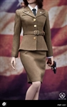 WWII US Army Female Agent Uniform - POP Toys 1/6 Scale Accessory Set