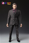 Men's Brown Check Suit - 1/6 Scale Accessory Set - Play Toy