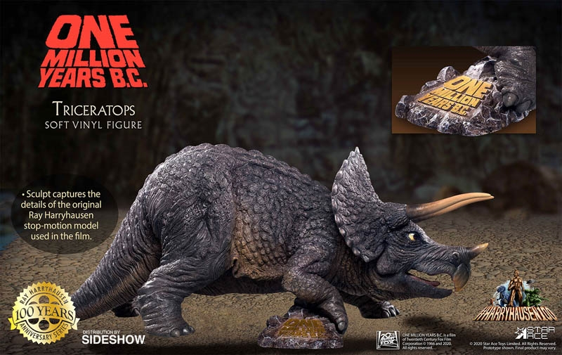 Triceratops - 100 Years of Harryhausen - One Million Years BC - Star Ace Statue