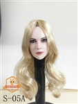 Female Head Sculpt - Long Blonde Hair - SG Toys 1/6 Scale Accessory
