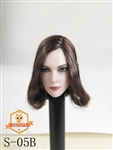 Female Head Sculpt - Brown Curly Hair - SG Toys 1/6 Scale Accessory
