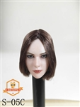 Female Head Sculpt - Brown Short Hair - SG Toys 1/6 Scale Accessory