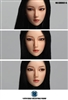 Headsculpt - Female with Moveable Eyes - Long Black Hair - SuperDuck 1/6 Scale Accessory