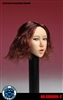Asian Female Head Sculpt - Open Mouth - Short Red Hair - Superduck 1/6 Scale