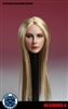 European Head Sculpt Female - Straight Hair -  Super Duck 1/6 Scale
