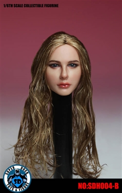 European Head Sculpt Female - Curly Hair -  Super Duck 1/6 Scale