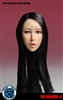 Asian Head Sculpt Long Black Hair -  Super Duck 1/6 Scale