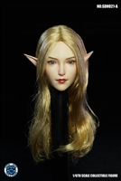 Female Head with Interchangeable Ears - Blonde - Super Duck 1/6 Scale Accessory