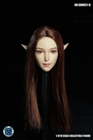 Female Head with Interchangeable Ears - Brown Hair - Super Duck 1/6 Scale Accessory