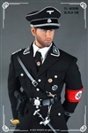 Waffen-SS Officer's Black Service Uniform Set - Toys City 1/6 Accessory