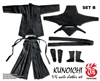 Ninja Clothes - Female Set - Toys Dao 1/6 Scale Accessory Set