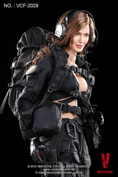 Really Really Cool Toys : Female shooter in black
