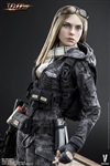 Python Stripe Camouflage - Villa Sister Flower - Police Black Version - Very Cool 1/6 Scale Figure