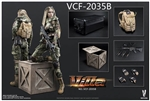 Villa Sister Flower - Python Stripe Camouflage - Jungle Python Version - Very Cool 1/6 Scale Figure