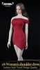 Woman's Shoulder Dress - Four Color Options - Vor Toys 1/6 Scale Accessories