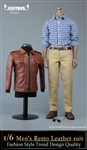 Men's Leather Jacket Set - Vor Toys 1/6 Scale Accessory